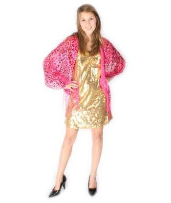 Roze glamour sjaal met lovers