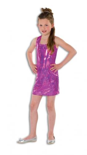Roze glitterende jurk  voor meisjes