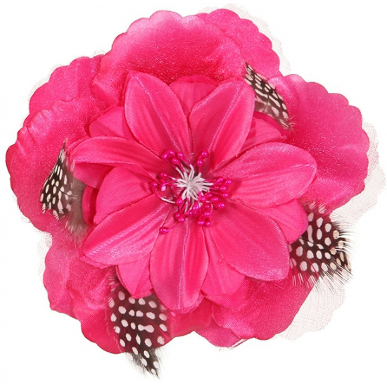 Roze Hawaii broche en clip