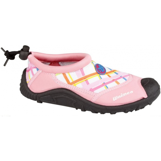 Roze kinder waterschoenen met ruit