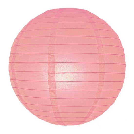 Roze lampionnen 25 cm