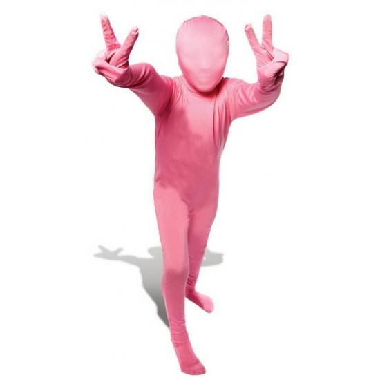 Roze morphsuit pak voor kinderen