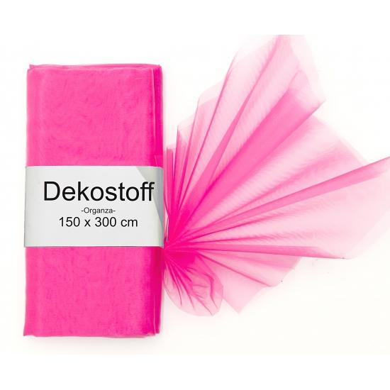 Roze organza stof 150 x 300 cm