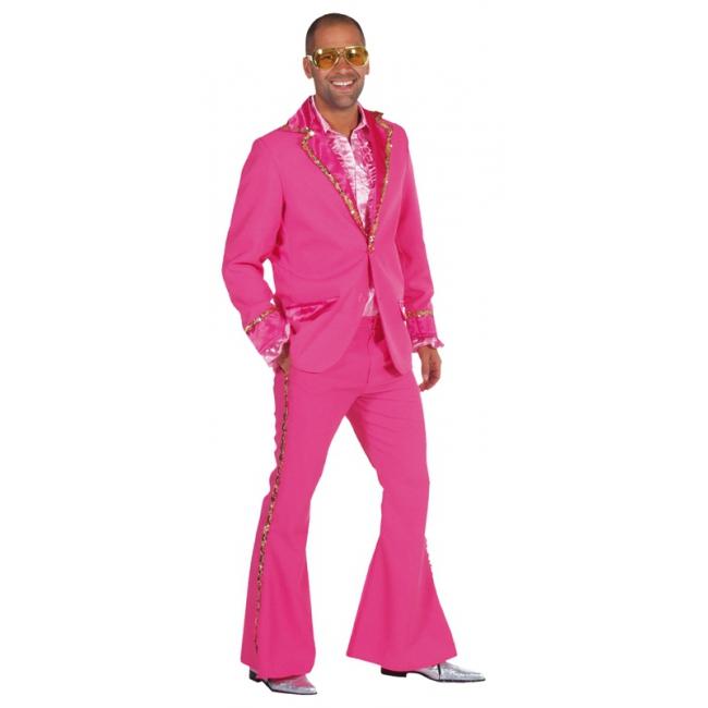 Roze seventies pakken mannen