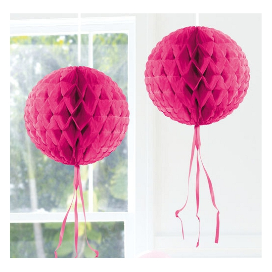 Roze versiering bol 30 cm