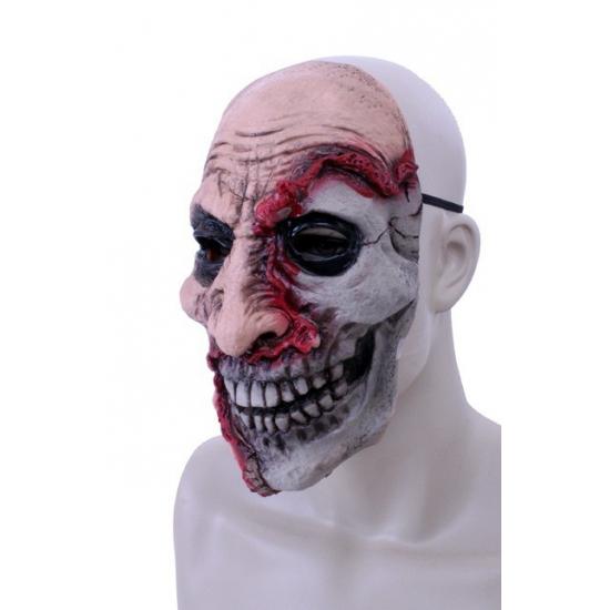 Rubberen half dood gezicht masker