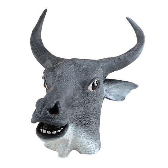 Rubberen koeien maskers