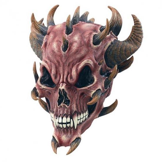 Rubberen masker duivel