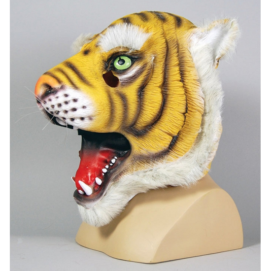 Rubberen masker tijger