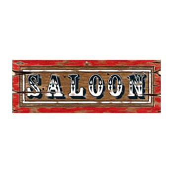 Saloon bordje 55 x 20 cm