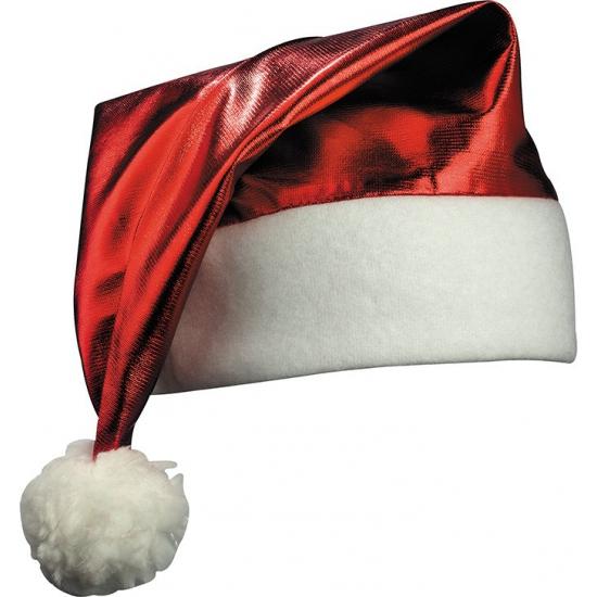 Shiny kerstmuts rood
