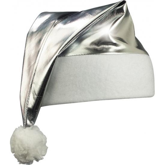 Shiny kerstmuts zilver