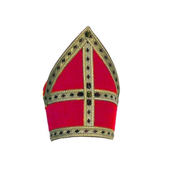 Sinterklaas mijter fluweel 57 cm