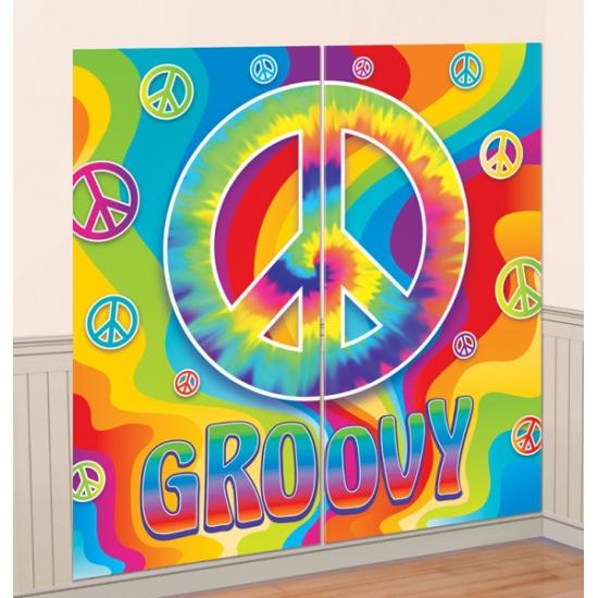 Sixties groovy muurdecoratie