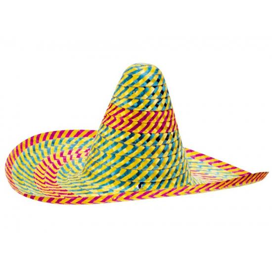 Sombrero hoeden gekleurd 50 cm
