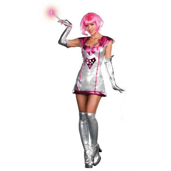 Space outfit met licht voor dames