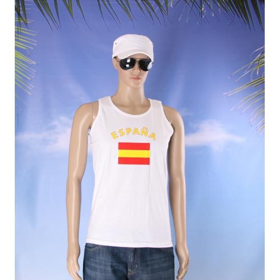 Spanje vlaggen tanktop/ t shirt