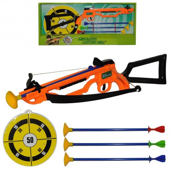 Speelgoed kruisboog met pijlen