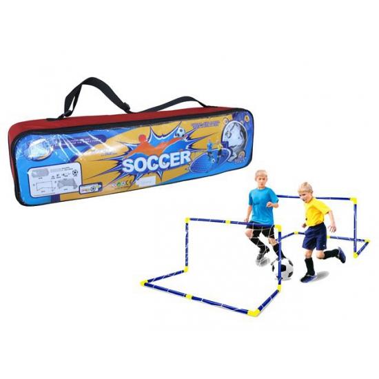 Speelgoed voetbaldoel in tas met bal