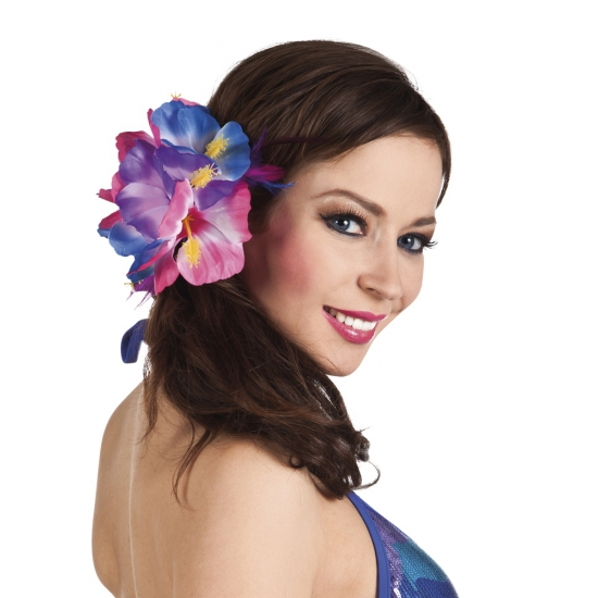 Speld met grote Hawaii bloem