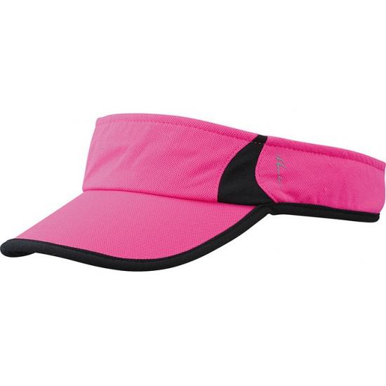Sporty zonneklep polyester roze