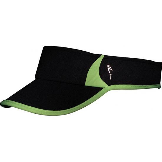 Sporty zonneklep polyester zwart