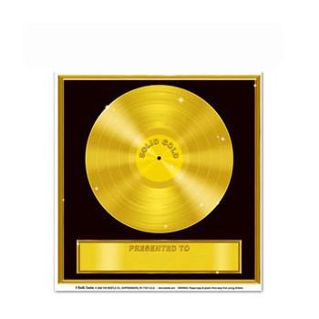 Sticker gouden platen