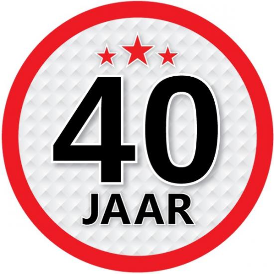 Stopbord sticker 40 jaar