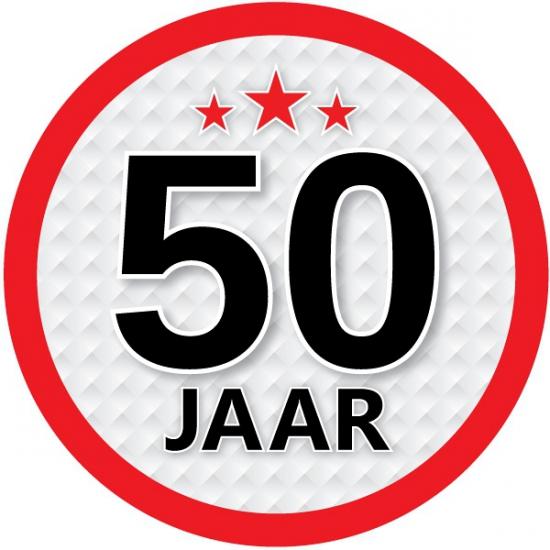 Stopbord sticker 50 jaar