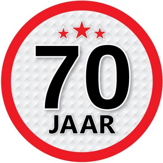 Stopbord sticker 70 jaar