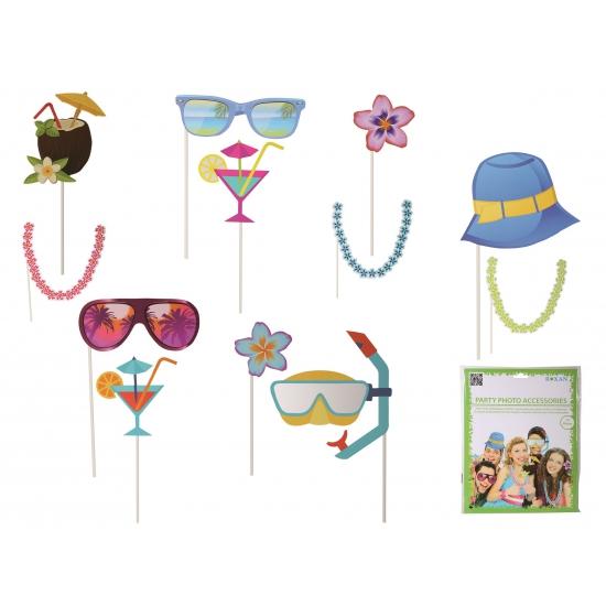 Strand accessoires op stokje 12 stuks