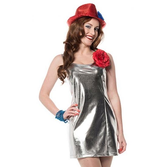 Stretch jurk in de kleur zilver
