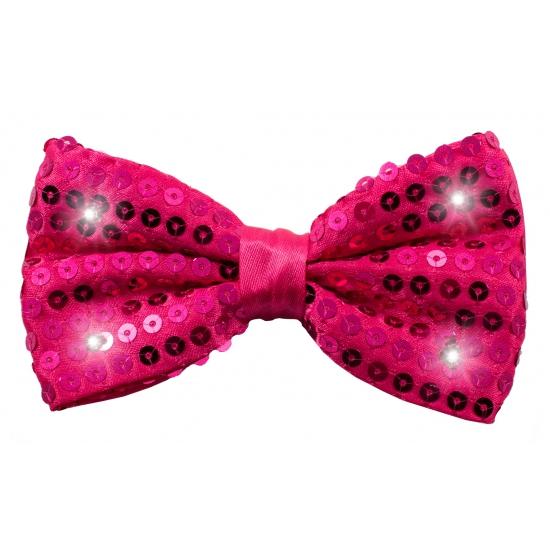 Strikje met LED verlichting roze