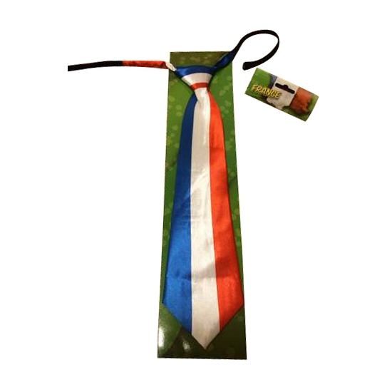 Stropdas met de Franse vlag