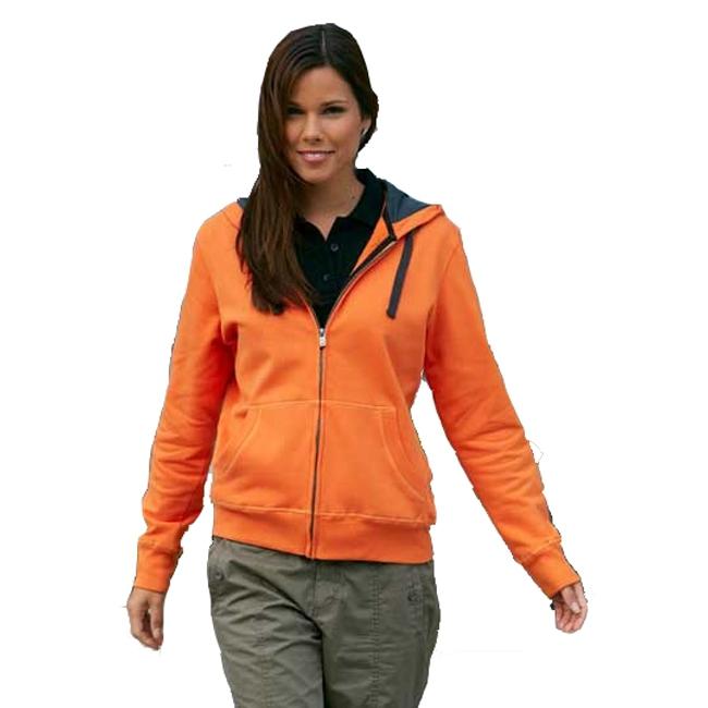 Sweatjack oranje voor dames