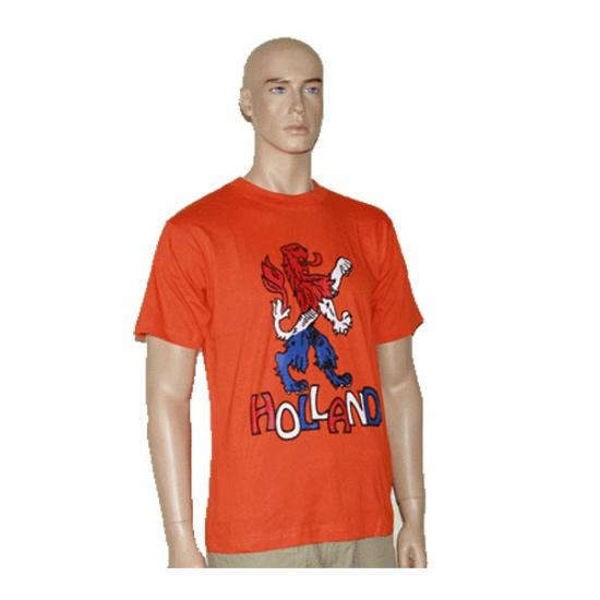 T shirt oranje met Holland leeuw