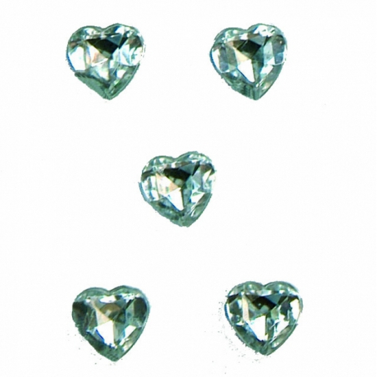 Transparante hartjes diamanten 20 stuks