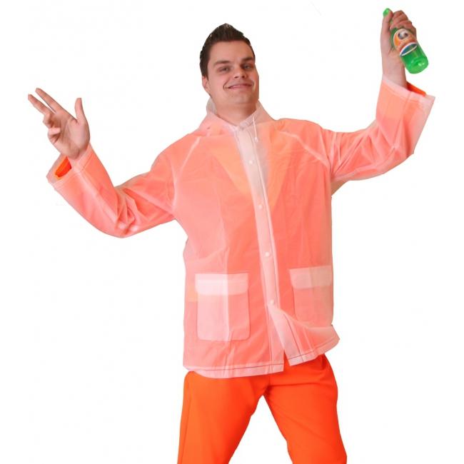Transparante regenjas voor over uw kostuum