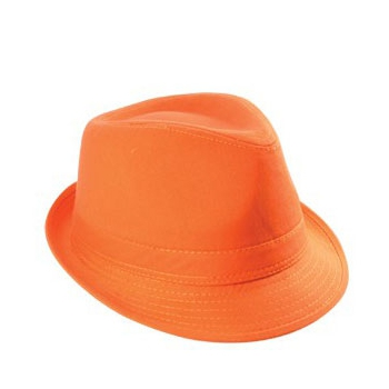 Trendy oranje supporters hoedje