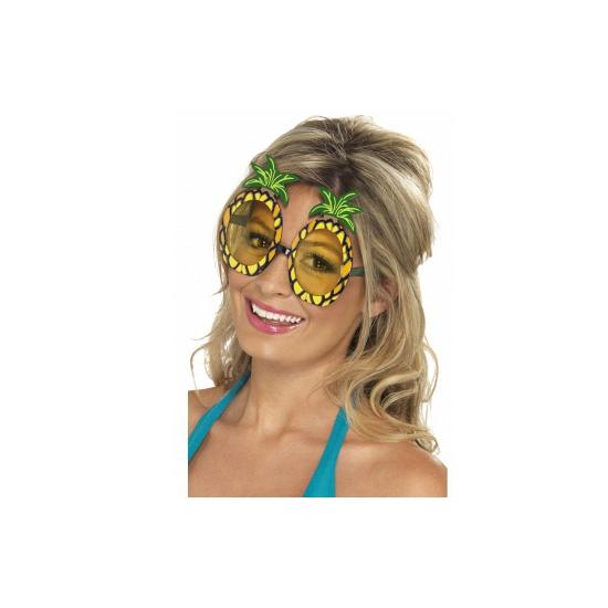 Tropische bril met ananas glazen