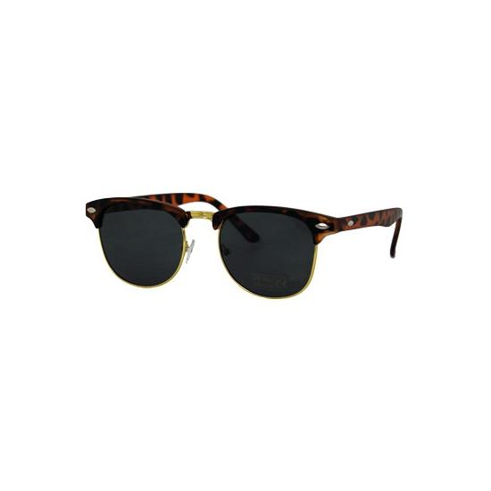 Turtle bruine Clubmaster zonnebril