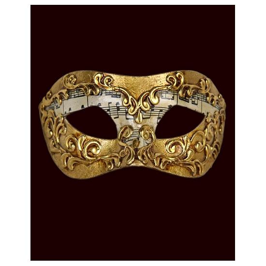 Venetiaans masker met muzieknoten