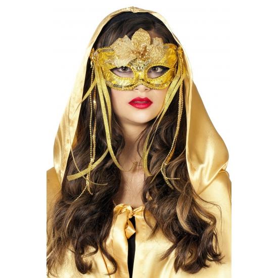 Venetiaans oogmasker goud met linten
