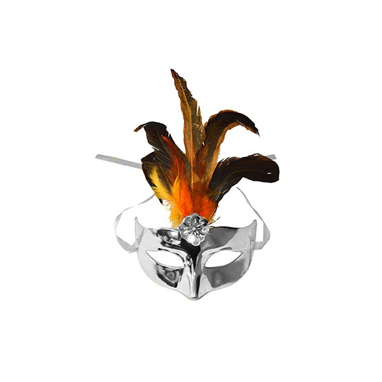 Venetiaanse masker zilver metallic