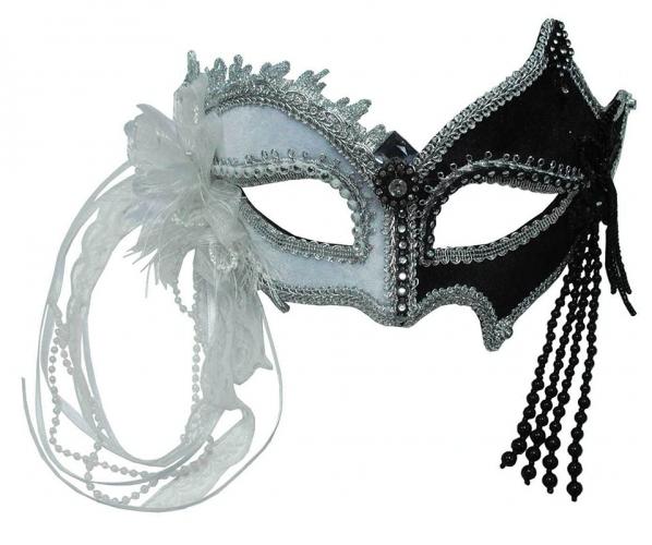 Venetiaanse zwart witte maskers