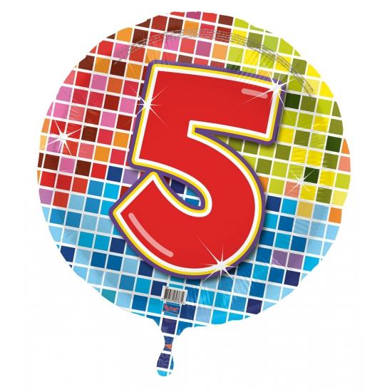 Verjaardagsballon 5 jaar helium