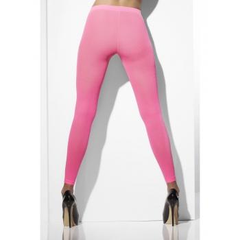 Verkleed legging neon roze kleur