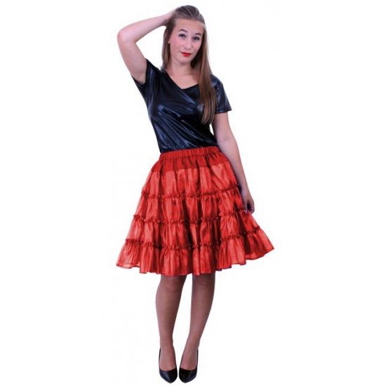 Verkleed petticoat rood met 5 lagen