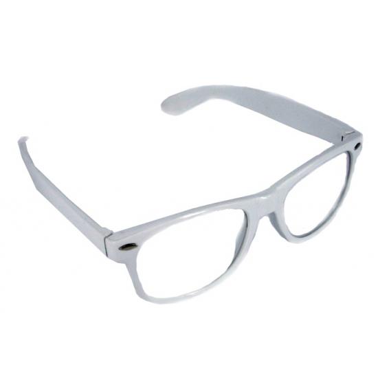 Verkleedbril wit