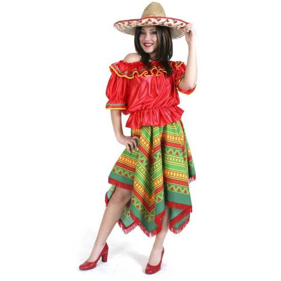 Verkleedkleding dames Mexicaanse stijl